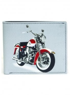 Gents Motorbike Wallet White