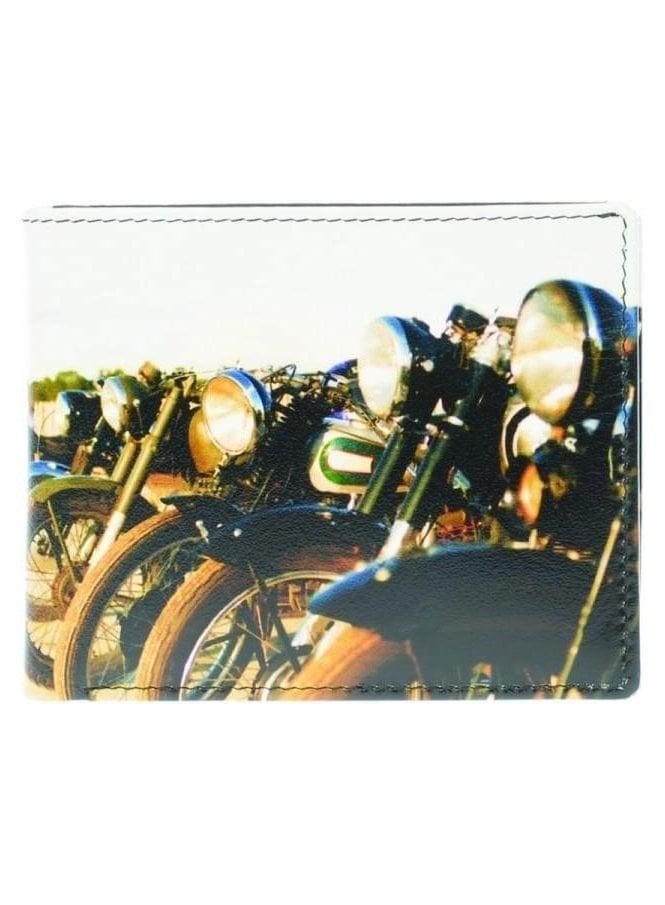 GOLUNSKI Gents Old Motorbikes Wallet Black