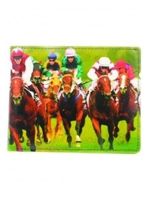 Horse Racing Wallet Black