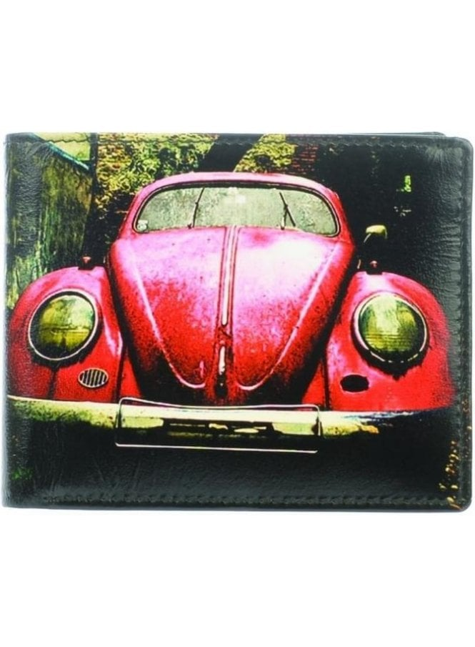 GOLUNSKI Red Car Wallet Black