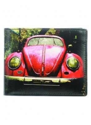 Red Car Wallet Black