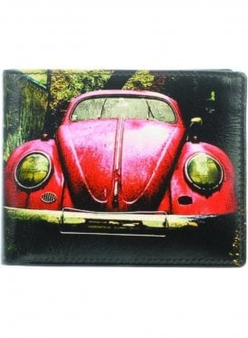 Red Car Wallet Black