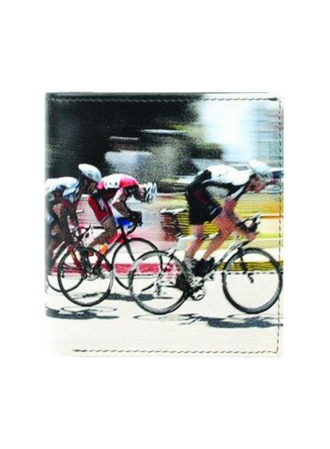 GOLUNSKI Retro Cyclists Print Gents Notecase Wallet Black/beige