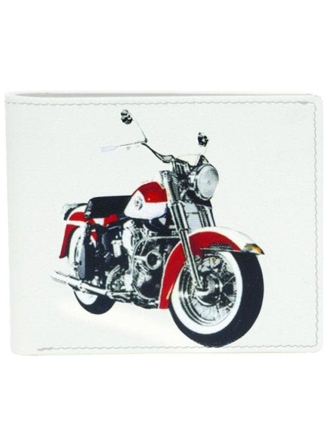 GOLUNSKI Retro Motor Bike Print Wallet Cream