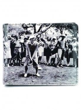 Vintage Golf Gents Notecase Wallet Black