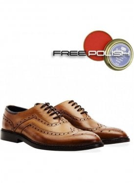 Barley Oxford Brogue Shoe Tan