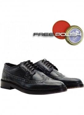 Fence Premium Derby Brogue Shoe Charcoal