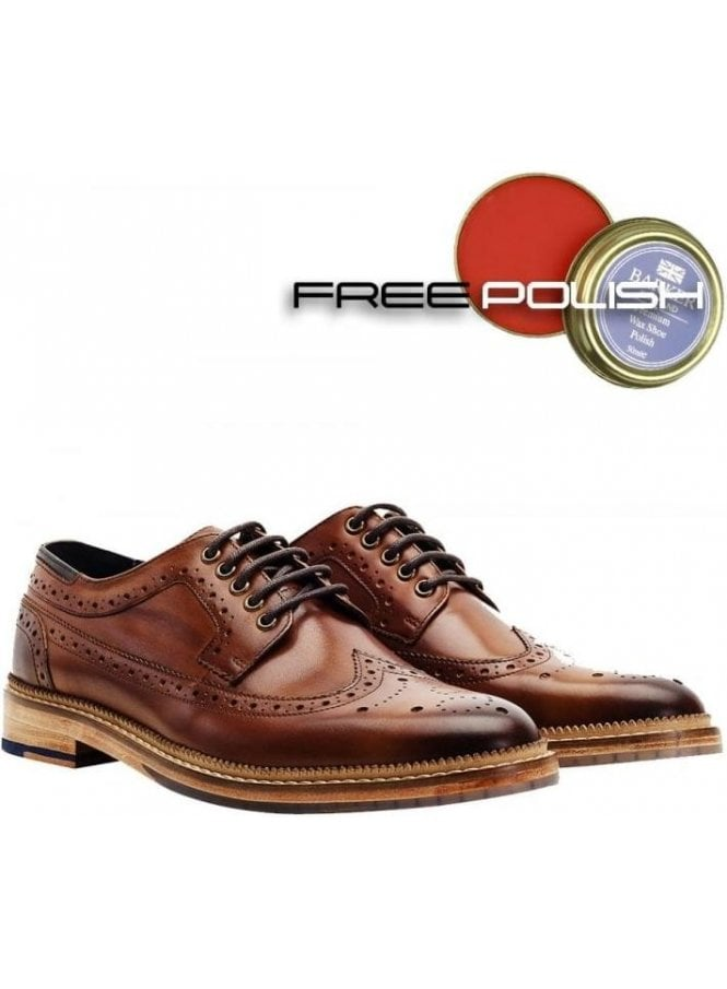 GOODWIN SMITH Fence Premium Derby Brogue Shoe Tan