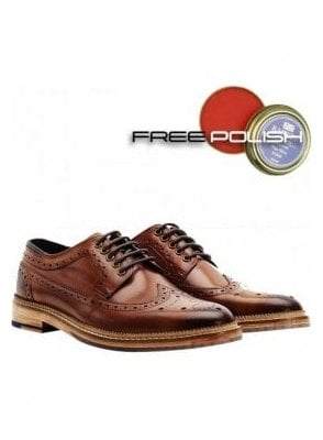 Fence Premium Derby Brogue Shoe Tan
