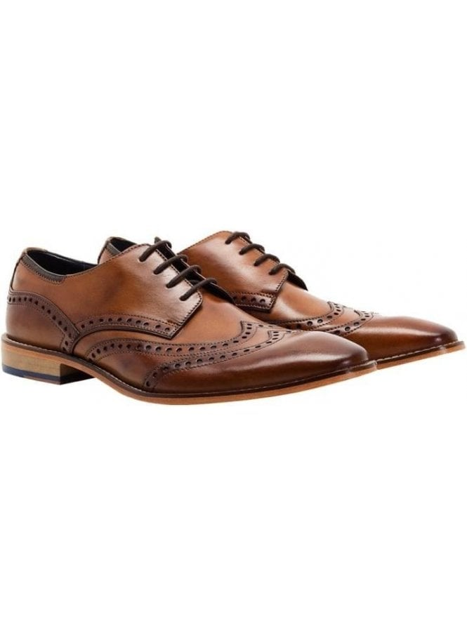 Gisburn Leather Brogue Shoe Tan