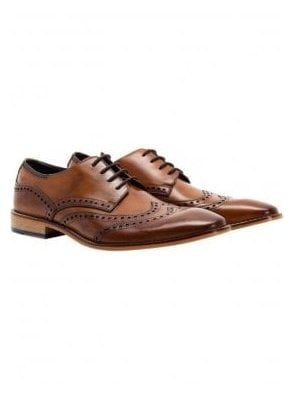 Gisburn Leather Brogue Shoe Tan