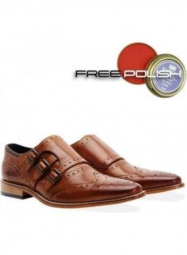 Hambledon Monk 3 Strap Leather Shoe Tan