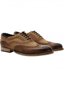 Harwood Oxford Brogue Shoe Tan/stone