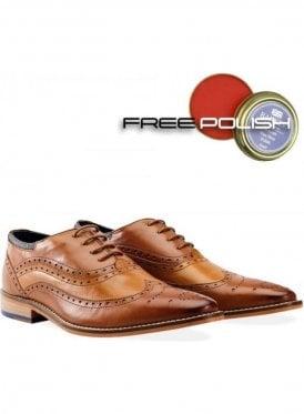 Jack Oxford Brogue Shoe Tan