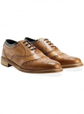 Newline Oxford Brogue Shoe Tan