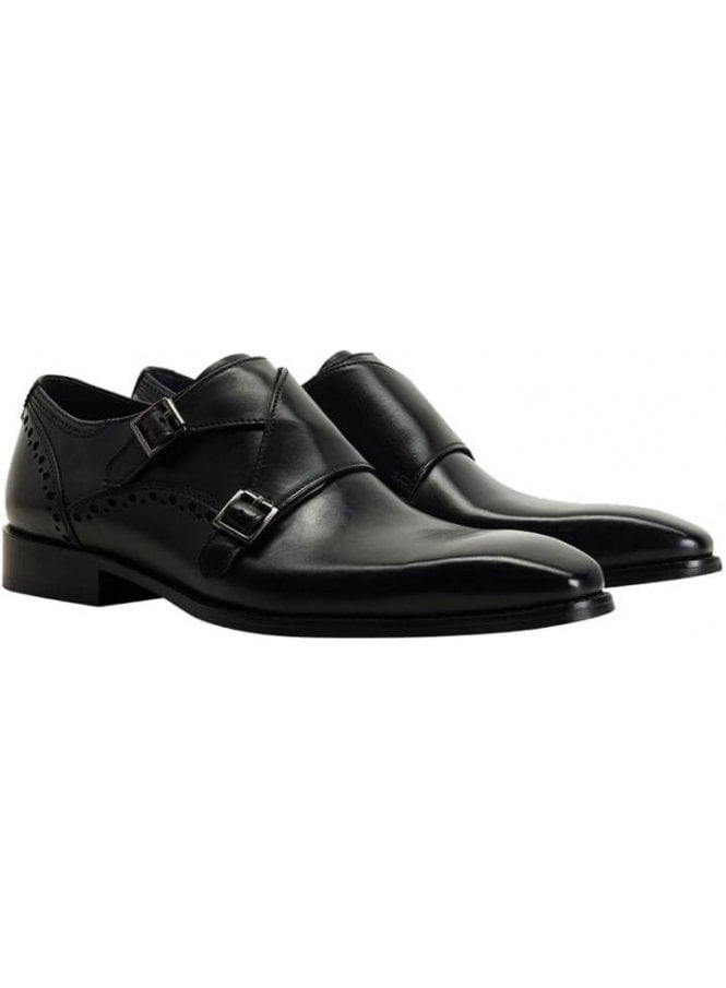 GOODWIN SMITH Ribchester Monkstrap Black