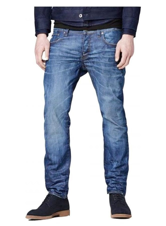 GSTAR 3301 Low Tapered Hydrite Denim Jean Medium Aged 071