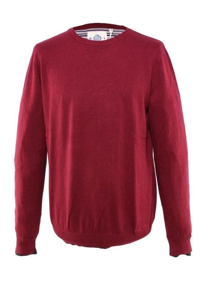 GUIDE LONDON Crew Neck Knit Burgundy