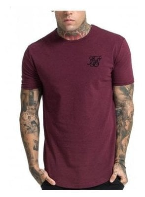 Gym Crew Neck Tshirt Burgundy