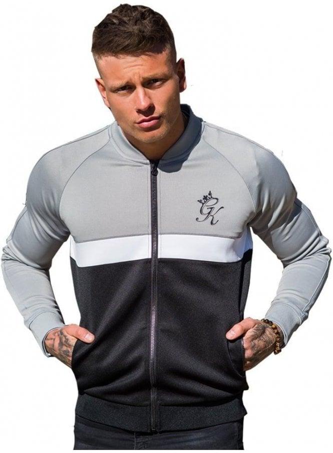 GYM KING Baseball Collar Zip Top Black/white/steel