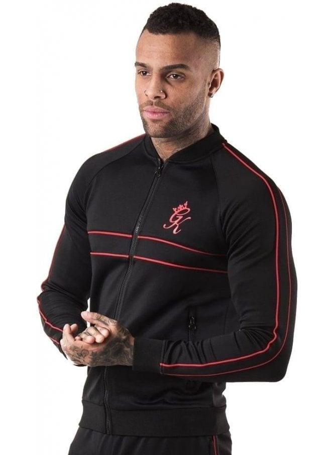 GYM KING Baseball Jacket Black/red