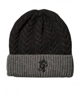 Butch Cable Beanie Black/Charcoal Marl