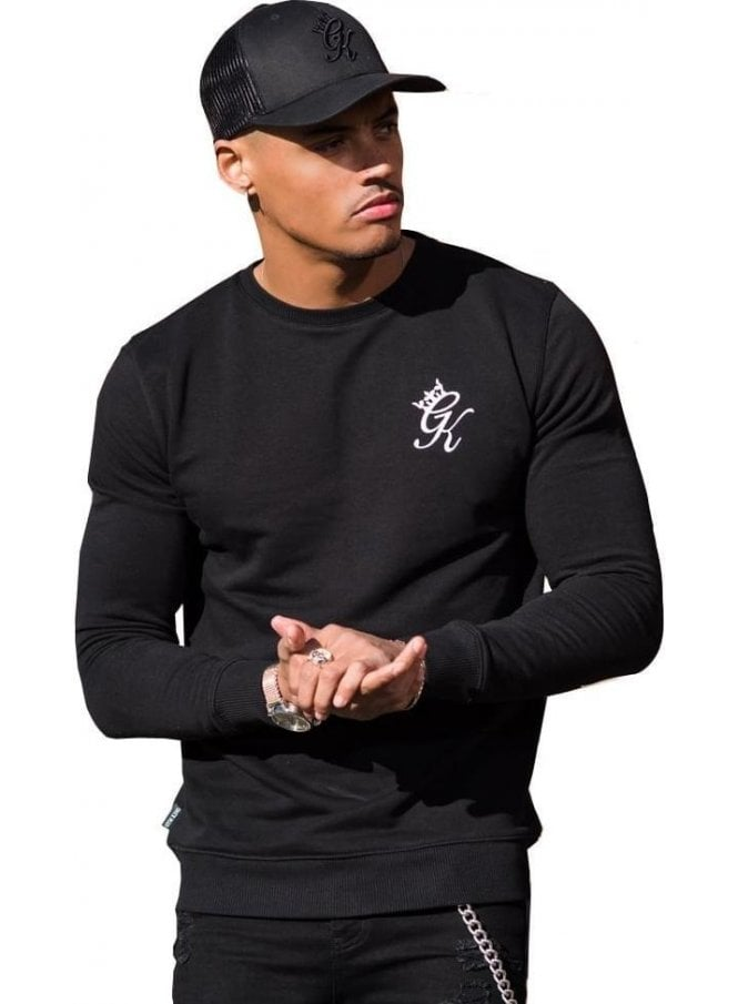 GYM KING Crew Neck Sweater Black