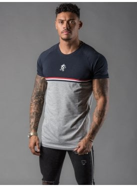 d1325e843ca69 Gilchrist T-Shirt - Navy Nights   Grey Marl New. Gym King ...