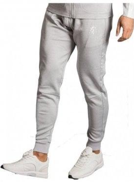 GK Capo Panel Poly Jog Pant - Grey Marl/White