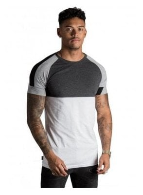 Gk Lombardi T-Shirt White/Charcoal Marl