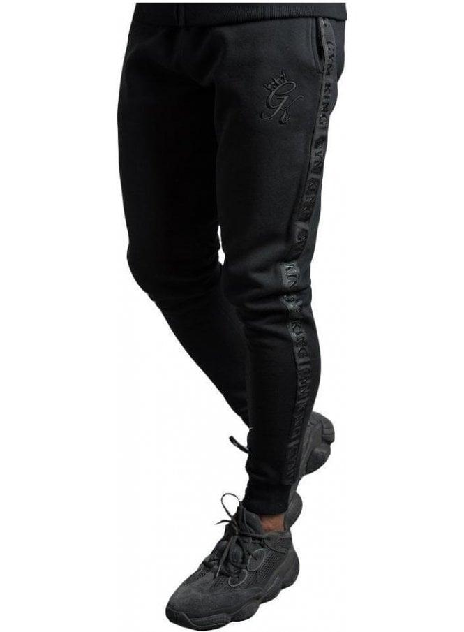 GYM KING Gk Taped Tracksuit Bottoms Black / Black
