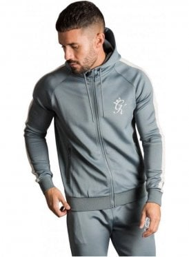 Gk Tapered Poly Tracksuit Top - Stormy Weather / Ashes of Roses
