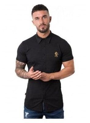 Jersey Shirt S/s Top Black/gold