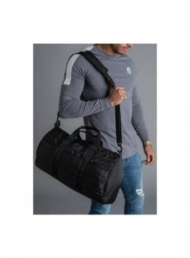 Lofty Quilted Duffle Bag - Black