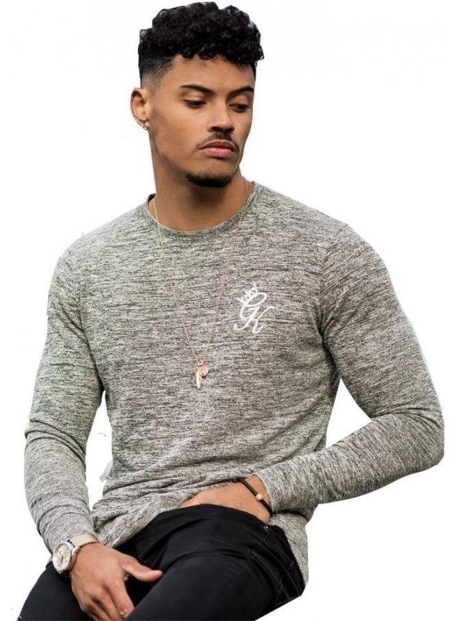 GYM KING Long Sleeved Undergarment Knit Top Grey