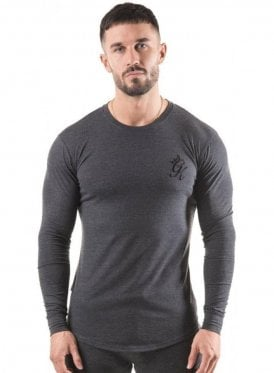 Long Sleeved Undergarment Top Charcoal Marl