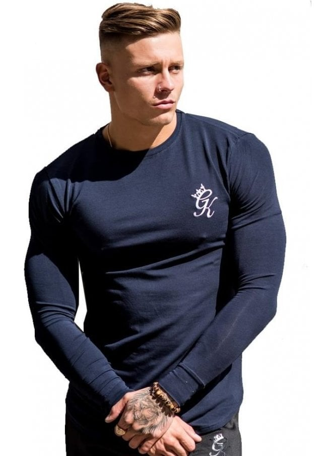 GYM KING Long Sleeved Undergarment Top Navy