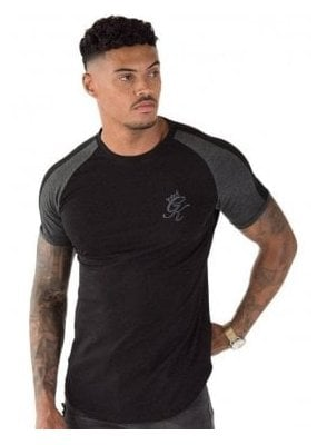Longline Retro T-Shirt Black/Charcoal/Marl
