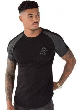 Longline Retro T-Shirt Black/Charcoal/Marl