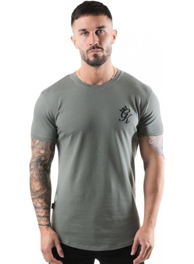 GYM KING Longline Tshirt Castor Grey