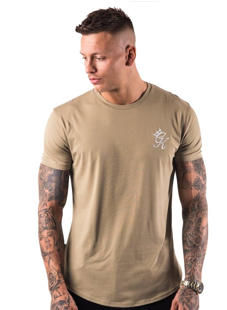599f2b575 Gym King Longline Tshirt Light Khaki