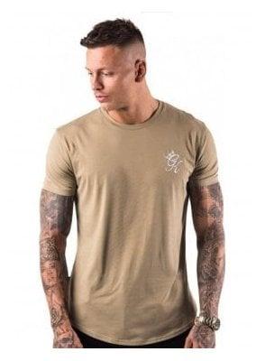 Longline Tshirt Light Khaki