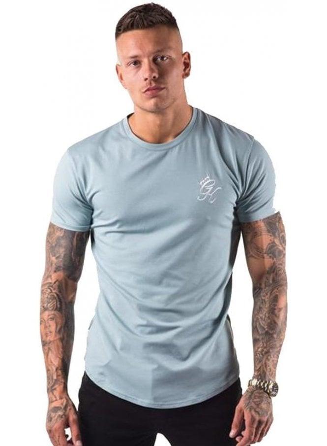 GYM KING Longline Tshirt Mirage Blue