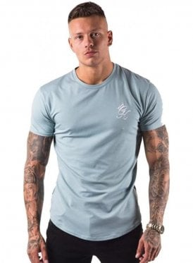 Gym King Longline Tshirt Mirage Blue