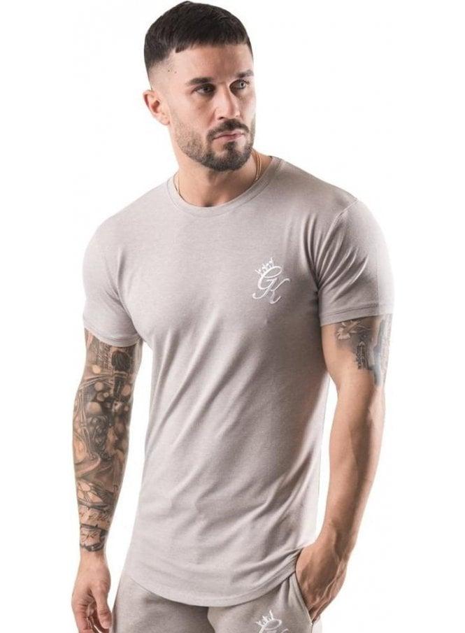 GYM KING Longline Tshirt Oatmeal