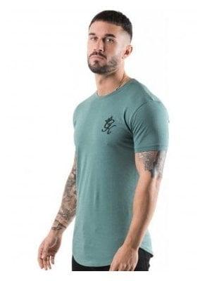 Longline Tshirt Silver Pine