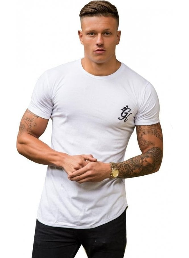 GYM KING Longline Tshirt White