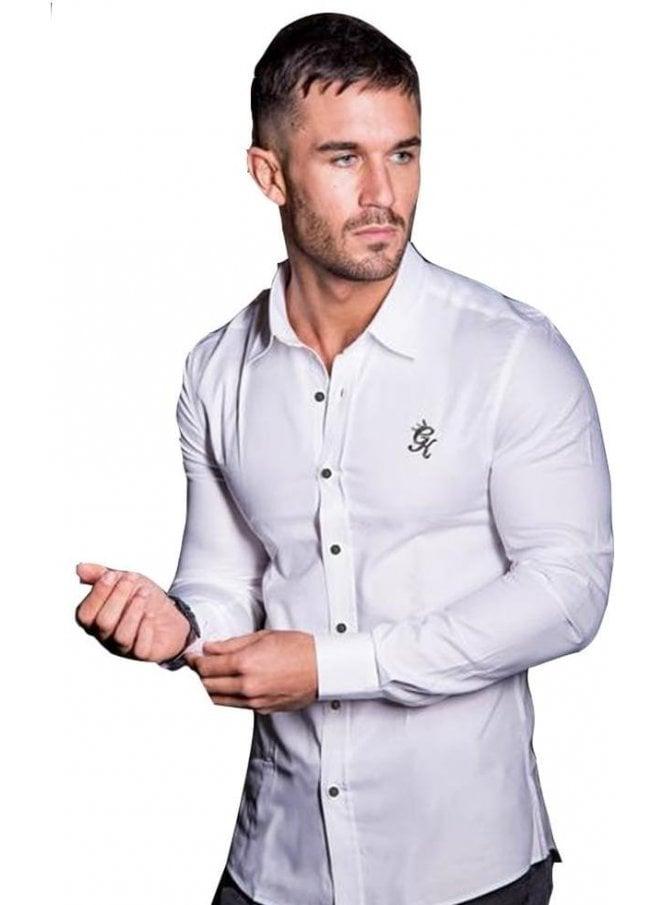 GYM KING Oxford L/s Stretch Shirt White