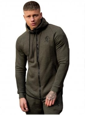 Performance Fleece Zip Through Salt & Pep Burnt Olive Snp