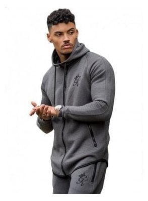 Performance Fleece Zip Through Salt & Pep Charcoal Snp